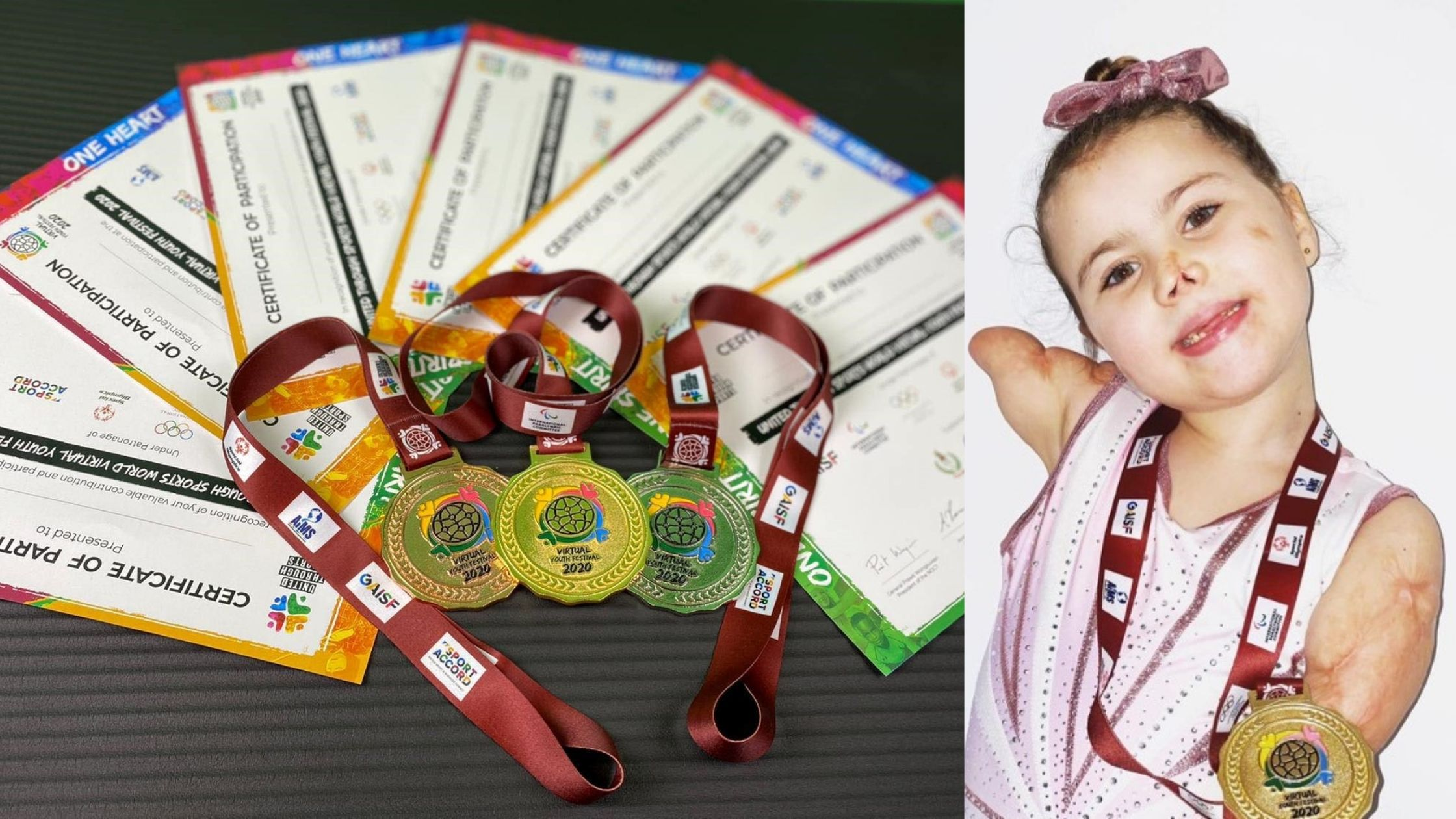 UTS WVYF2020 Gold, Silver & Bronze Medals and Certificates.                                                            UTS WVYF 2020 Gold Medal winner Harmonie-Rose